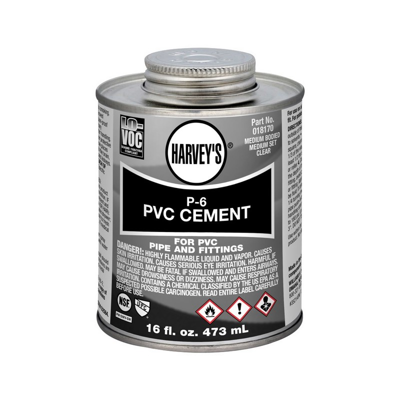 Harvey®16 oz. P-6 PVC Medium Body Clear Cement