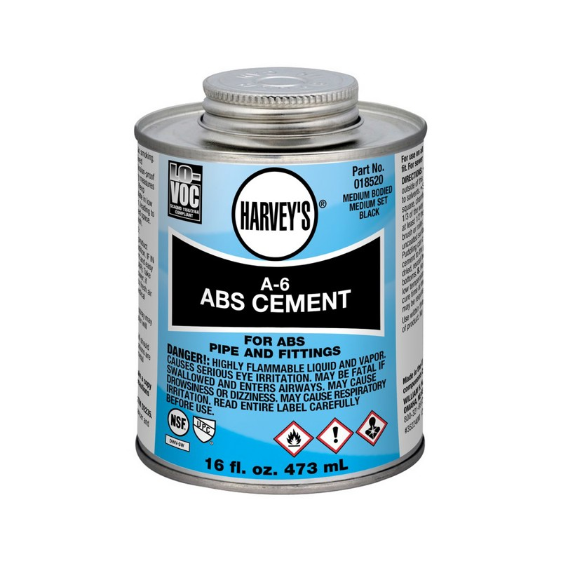 Harvey™ A-6 ABS Black Cement