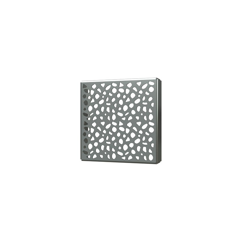 038753014999_H_001.png - SquareDrain 4 in. Stones Cover in Matte Black
