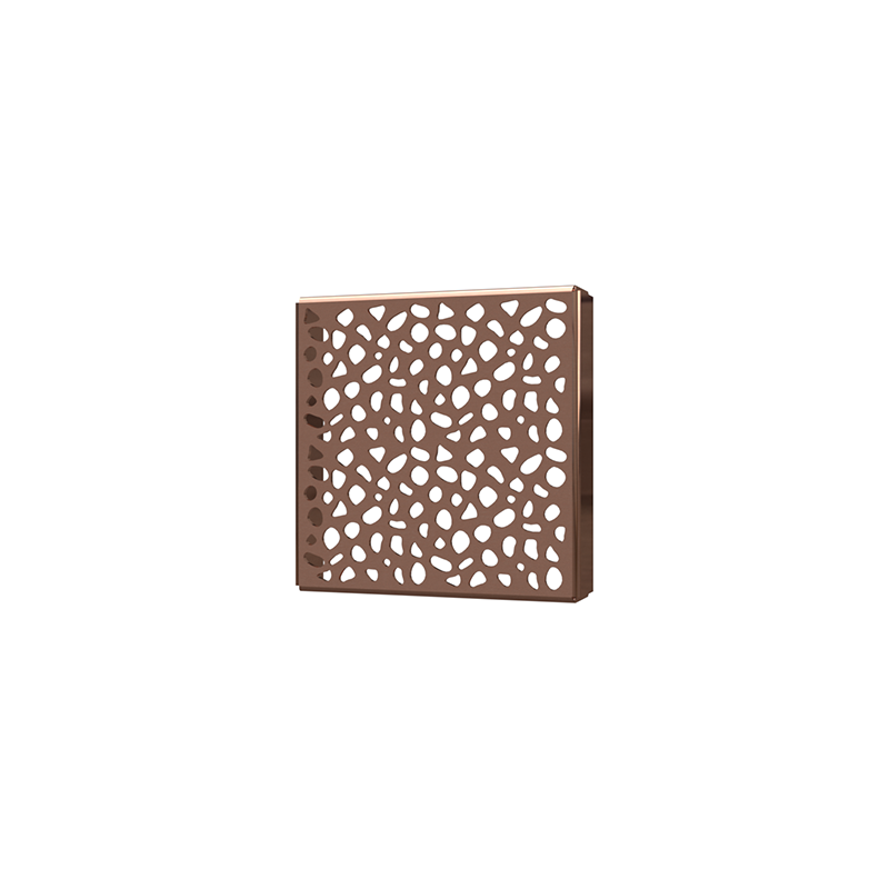 038753015064_H_001.png - SquareDrain 4 in. Stones Cover in Polished Rose Gold