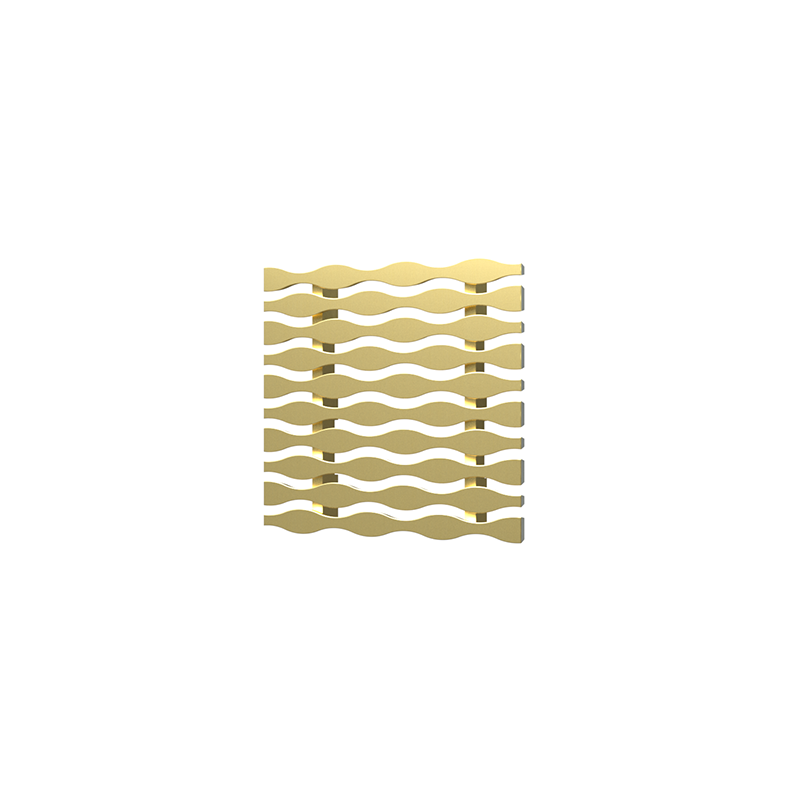 038753015330_H_001.png - SquareDrain 4 in. Stream Cover in Brushed Gold