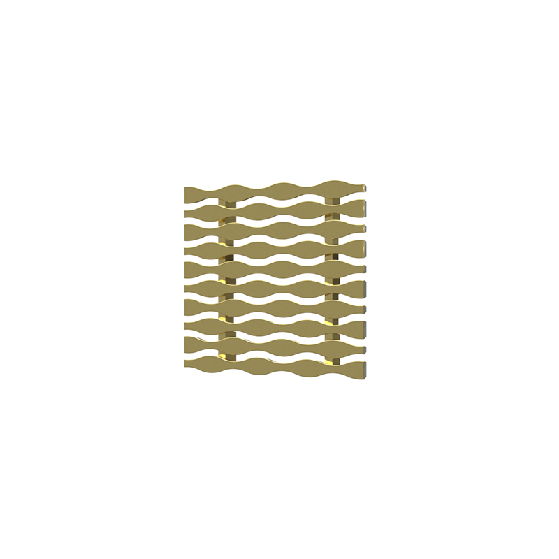 038753015347_H_001.png - SquareDrain 4 in. Stream Cover in Polished Gold