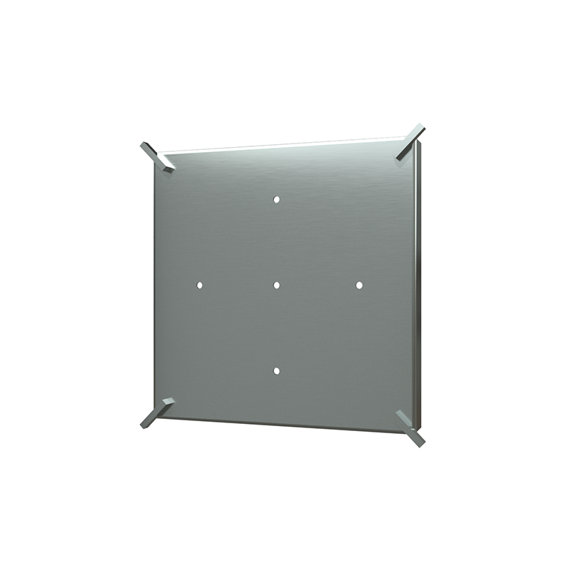 038753015880_H_001.png - SquareDrain 6 in. Tile-In Cover in Brushed Stainless Steel