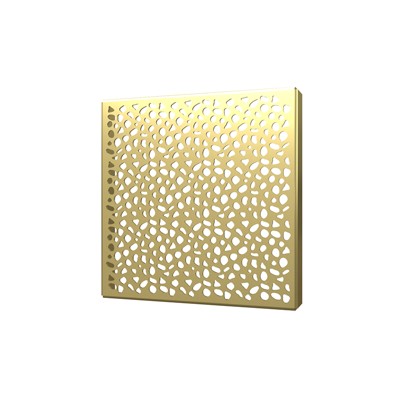 038753015996_H_001.png - SquareDrain 6 in. Stones Cover in Brushed Gold
