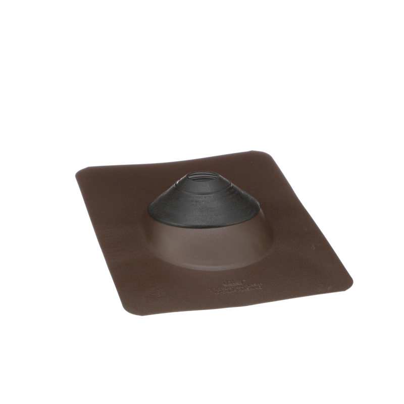 038753118727-R01-C24.jpg - Oatey® All-Flash® No-Calk® 1.5 in. – 3 in. Galvanized Brown 11 in. x 14.5 in. Base Roof Flashing