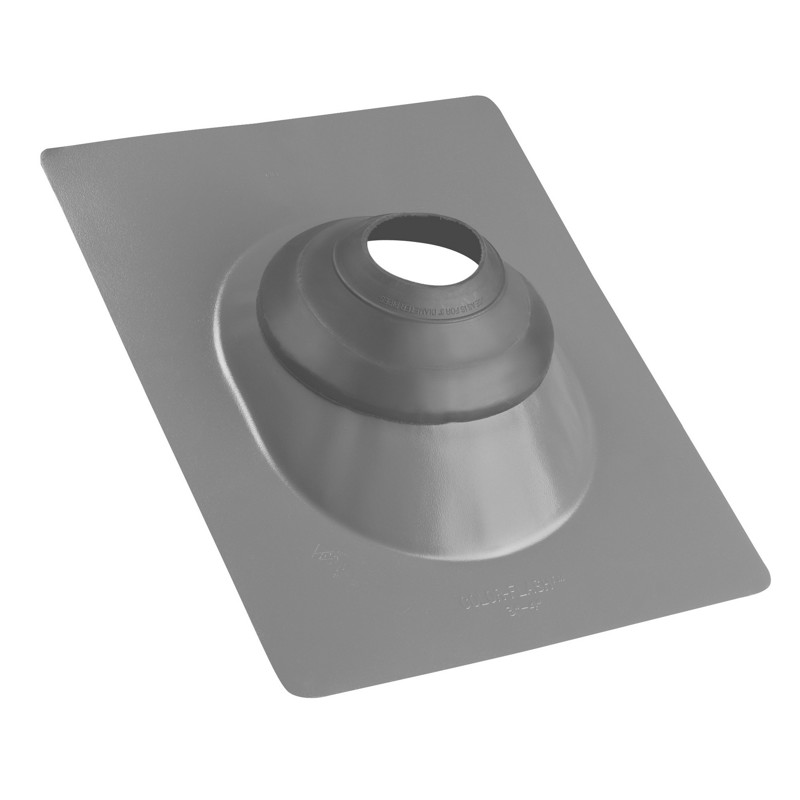 038753118789_H_001.jpg - Oatey® All-Flash® No-Calk® 3 in. – 4 in. Galvanized Gray 12 in. x 15 in. Base Roof Flashing