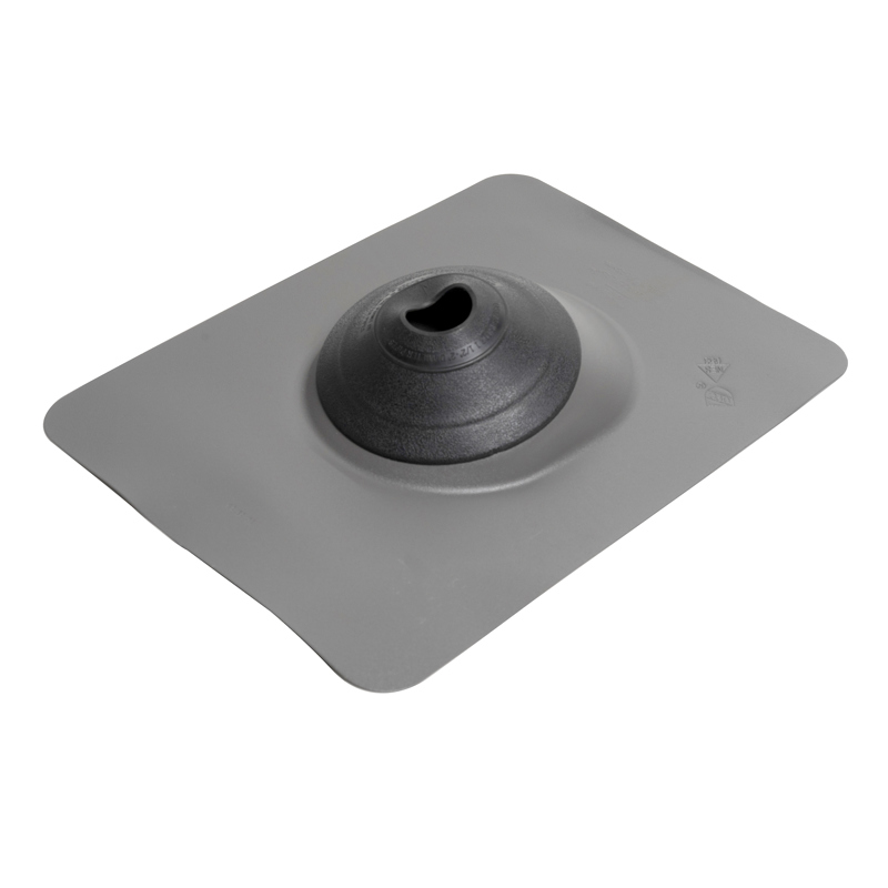 038753129426_H_001.jpg - Oatey® 1.5 in. – 3 in. All-Flash® No-Calk® Aluminum Gray 11 in. x 14.5 in. Base Roof Flashing