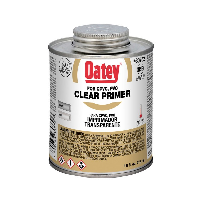 Oatey® Clear Primer – NSF Listed