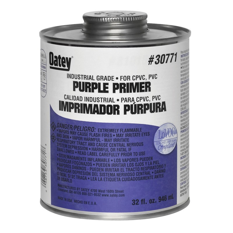 Oatey® 32 oz. Purple Primer – Industrial Grade