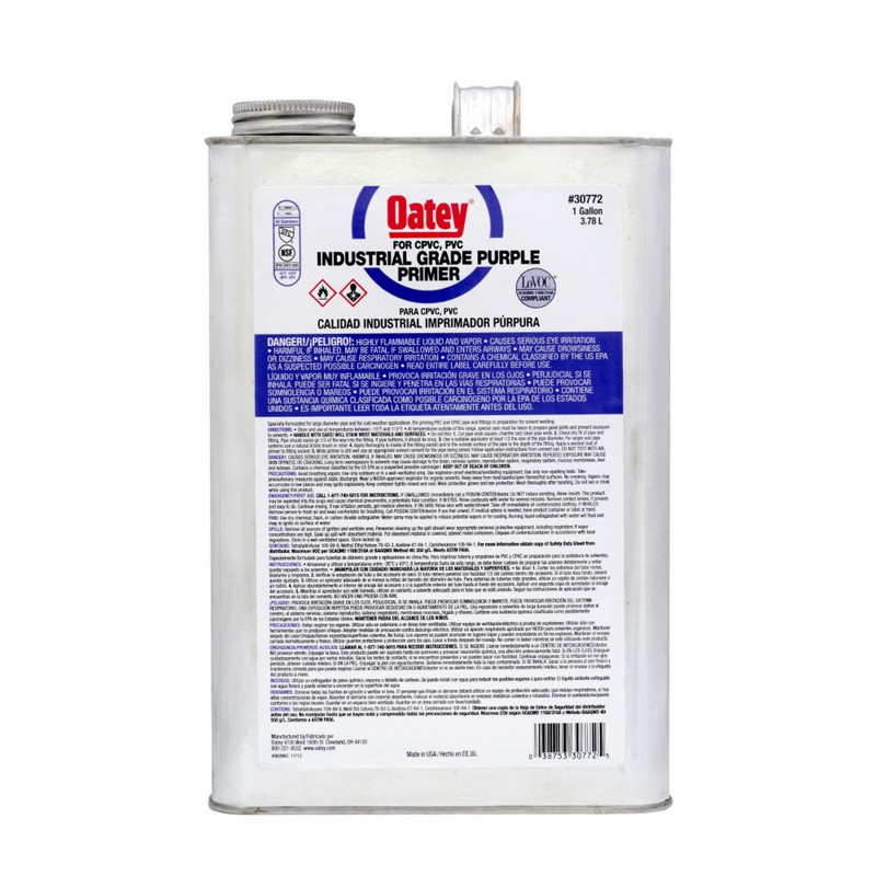 Oatey® Gallon Purple Primer – Industrial Grade