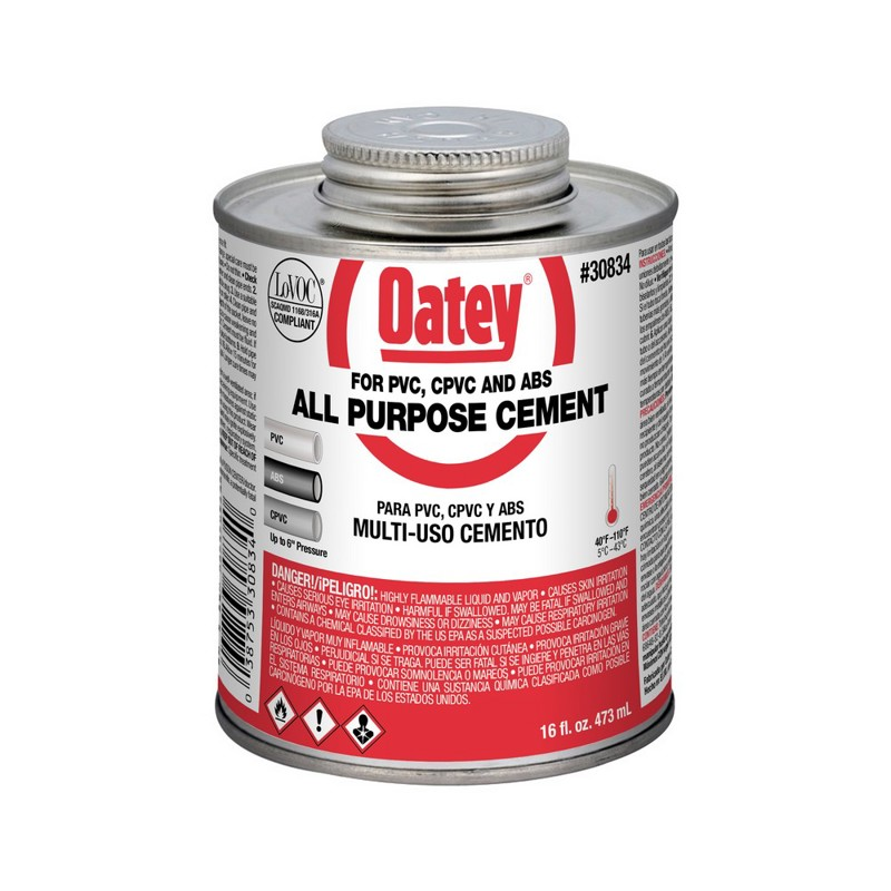 038753308340_H_001.jpg - Oatey® 16 oz. All-Purpose ABS, PVC and CPVC Medium Body Clear Cement