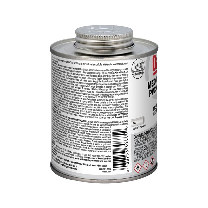 Oatey® 16 oz. PVC Medium Body Gray Cement