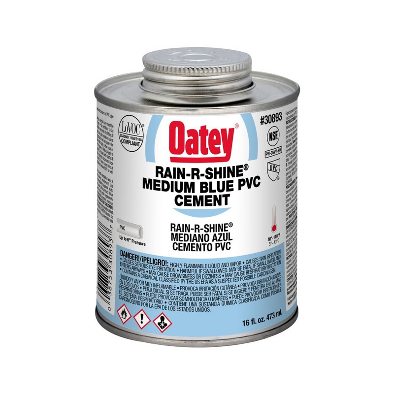 Oatey® Rain-R-Shine® Medium Blue PVC Cement