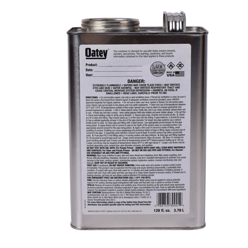 Oatey® Gallon Replacement Cement Can with Wide Mouth