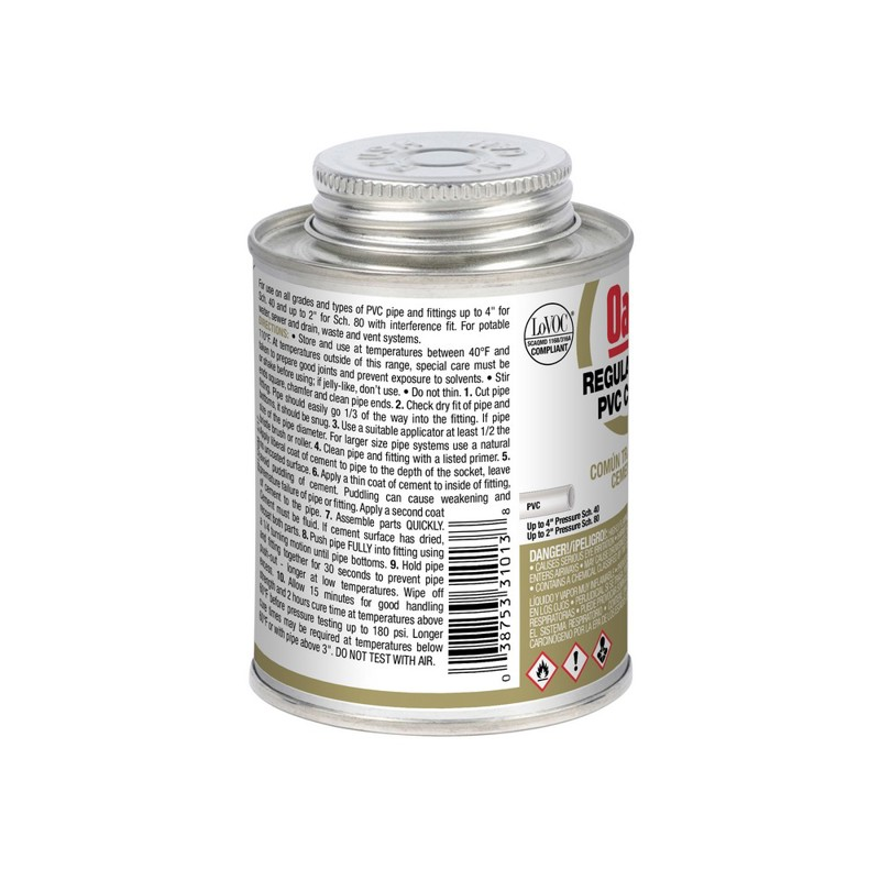 Oatey® 8 oz. PVC Regular Clear Cement