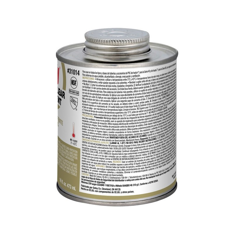 Oatey® 16 oz. PVC Regular Clear Cement