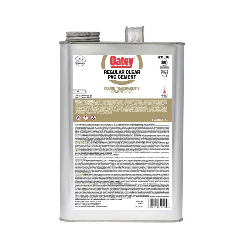 Oatey® Gallon PVC Regular Clear Cement