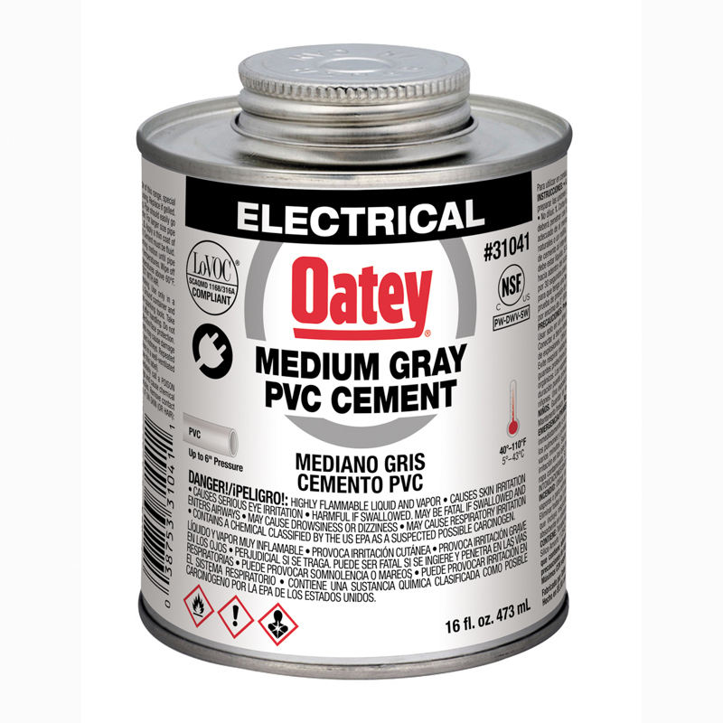Oatey® 8 oz. Electrical PVC Clear Cement