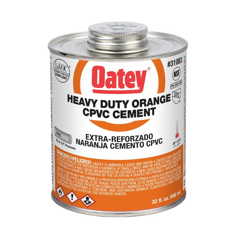 Oatey® Heavy Duty Orange CPVC Cement