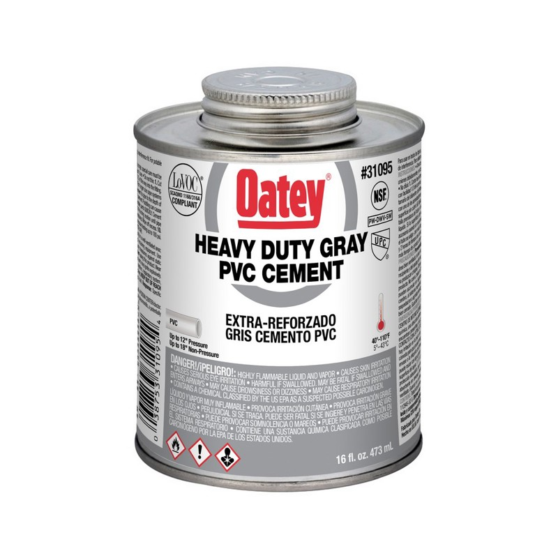 Oatey® Heavy Duty Gray PVC Cement