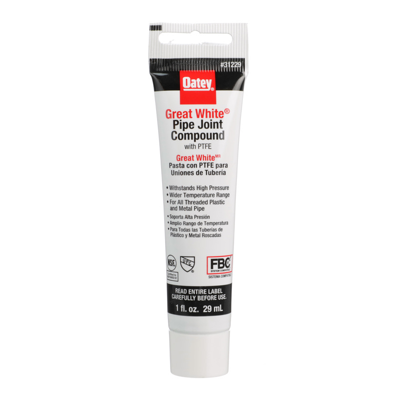 Oatey® 1 fl. oz. Great White® Pipe Joint Compound w/PTFE