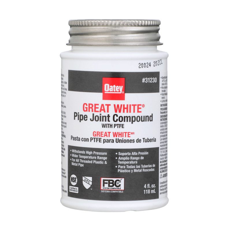 Oatey® 4 fl. oz. Great White® Pipe Joint Compound w/ PTFE