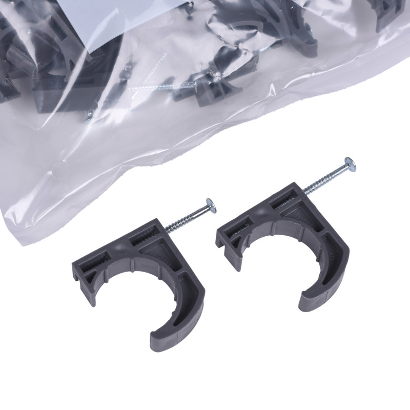 Oatey® 1 in Half Clamp Pipe Clamps With Nails (50 in polybag)