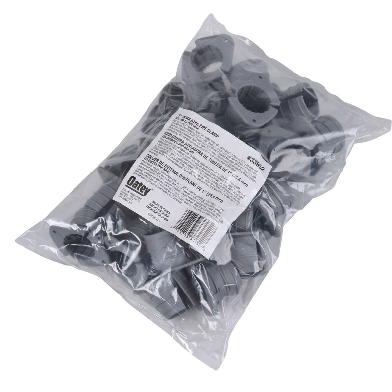 """Oatey® 1"""" Insulating Pipe Clamp (25 in polybag)"""