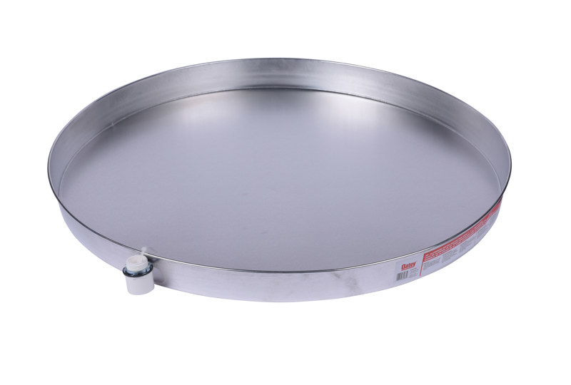 038753340852_H_001.jpg - Oatey® 30 in. Aluminum Water Heater Pans with 1 in.PVC Adapter