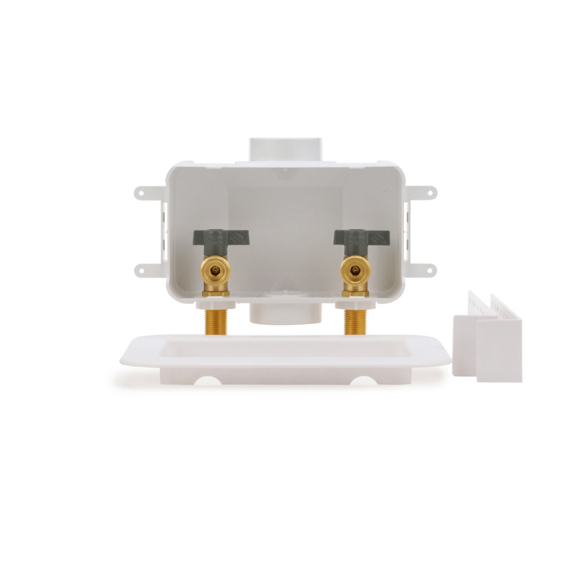 038753381503-01-01.jpg - Oatey® Centro, 1/4 Turn, Copper – Assembled - Washing Machine Outlet Box – Contractor Pack