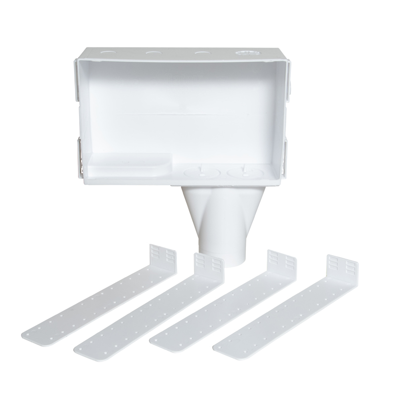 038753386409_H_001.jpg - Oatey® Eliminator, Plain Box, No Valves, Washing Machine Outlet Box  - Contractor Pack