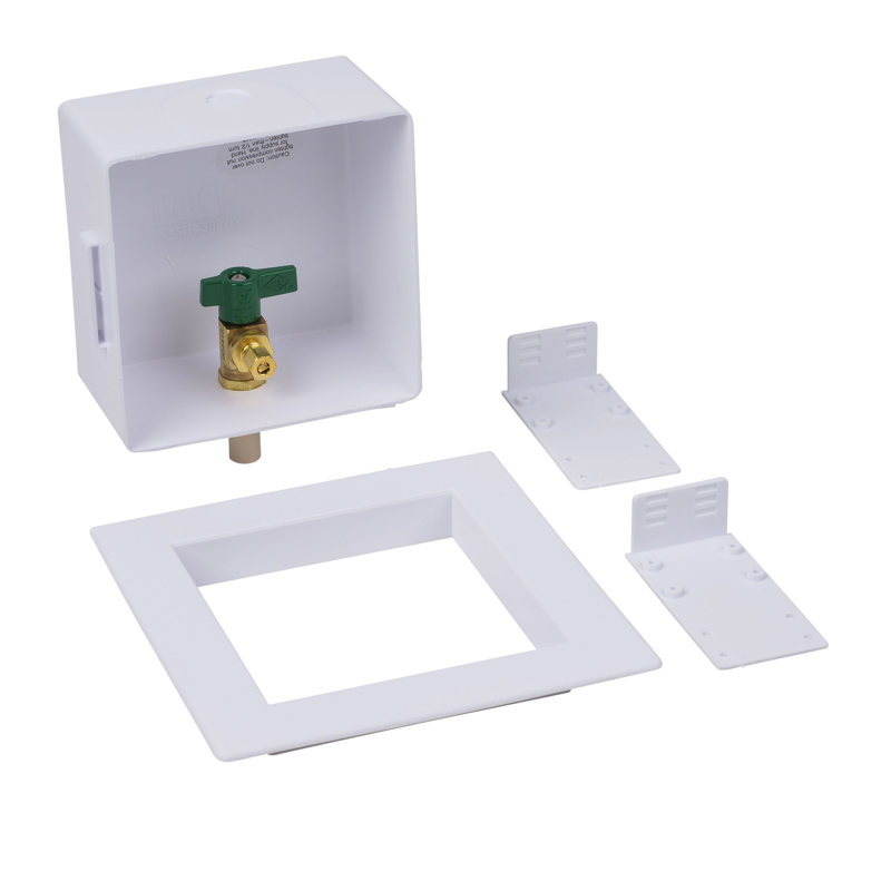 Oatey® Square, 1/4 Turn, CPVC, Low Lead, Ice Maker Outlet Box - Standard Pack