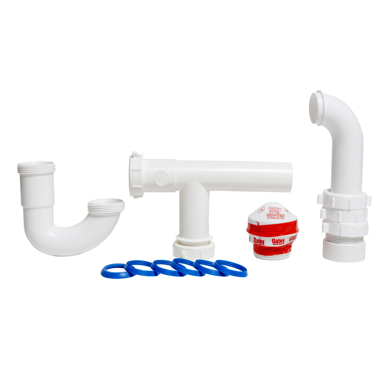 038753392455_H_001.jpg - Oatey® Sure-Vent® 1.5 in. 20 Branch, 8 Stack DFU Air Admittance Valve with PVC  Sched. 40 Adapter