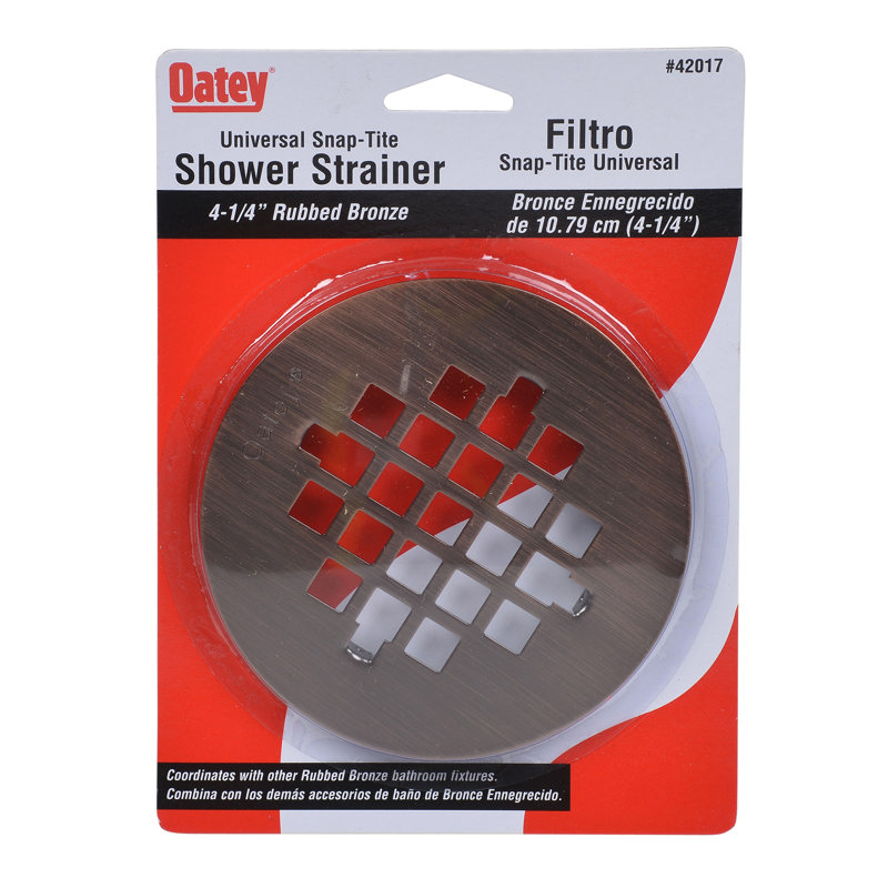 038753420172_H_002.jpg - Oatey® Universal 4-1/4 in. Snap-Tite Strainer Rubbed Bronze