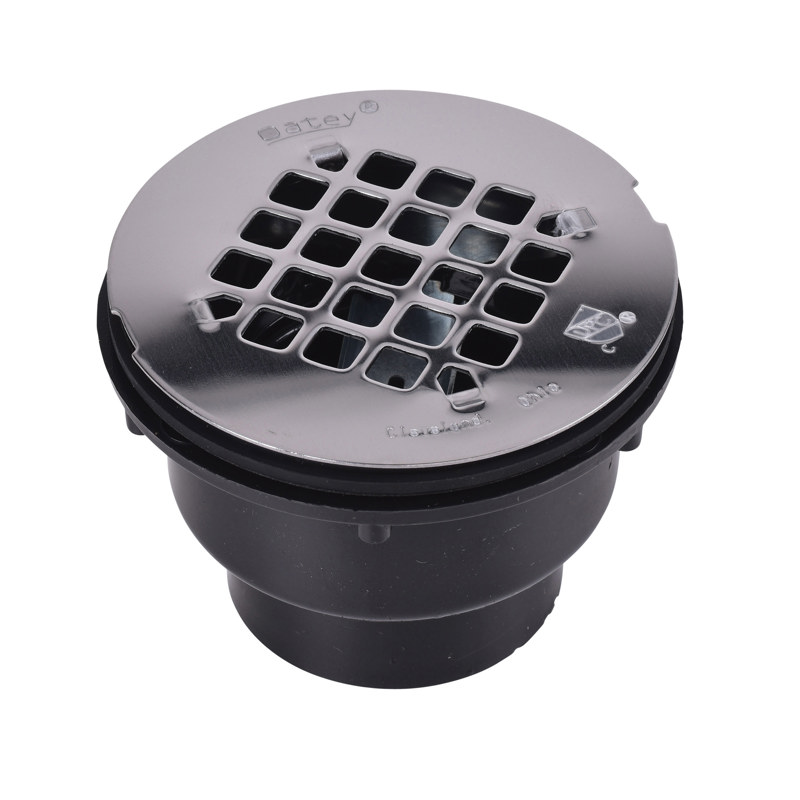 """Oatey® 2"""" 2-part ABS Solvent Weld Shower Drain w/ stainless steel strainer"""