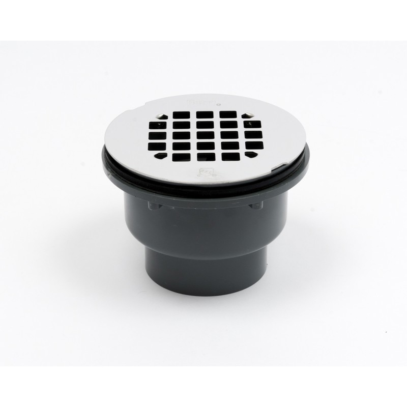 Oatey® 2-in. 2-part PVC Solvent Weld Shower Drain w/ stainless steel strainer