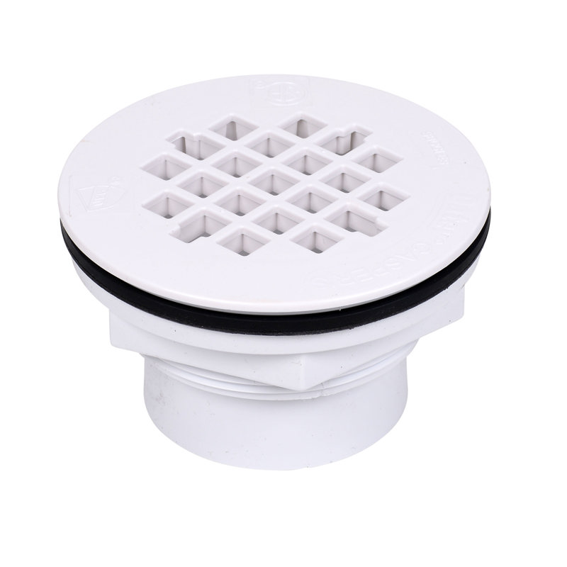 Oatey® 2 in. 101 PS PVC Solvent Weld Shower Drain w/ plastic strainer