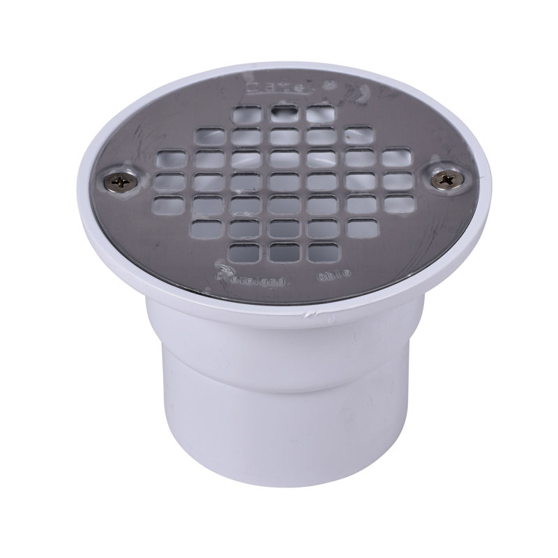 038753422350_H_001.jpg - Oatey® 2 in. or 3 in. ABS Drain with Round Brass Cast Grate with Round ring