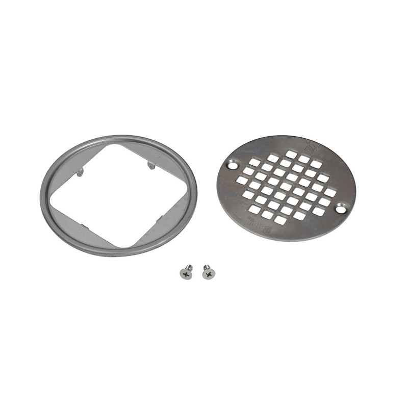 038753423340_H_001.jpg - Oatey® Round Brushed Nickel Screw-In Strainer with Ring