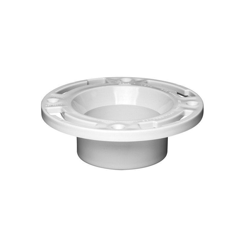 Oatey® 3 in. or 4 in. PVC closet flange w/plastic ring w/o test cap