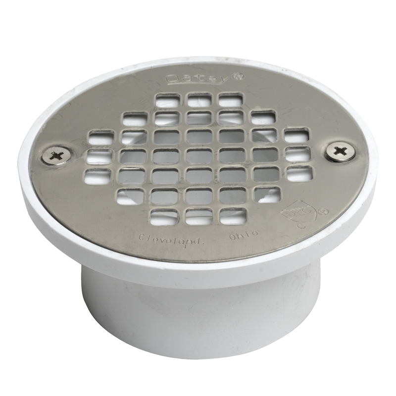 "Oatey® 2"" or 3"" PVC general purpose drain w/4"" stainless steel Screw-Tite strainer"