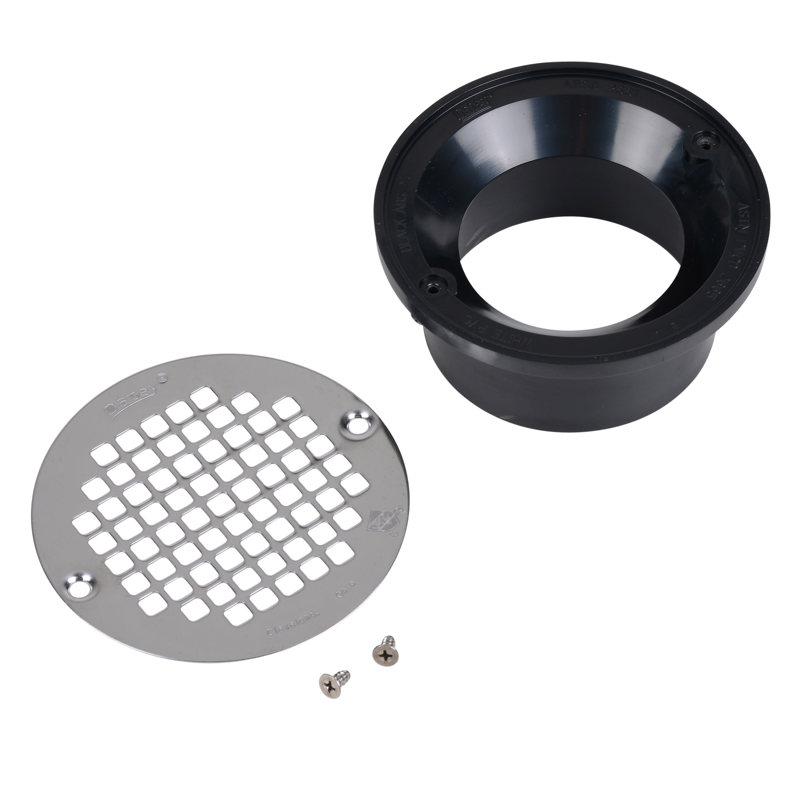 "Oatey® 3"" or 4"" ABS general purpose drain w/5"" stainless steel Screw-Tite strainer"