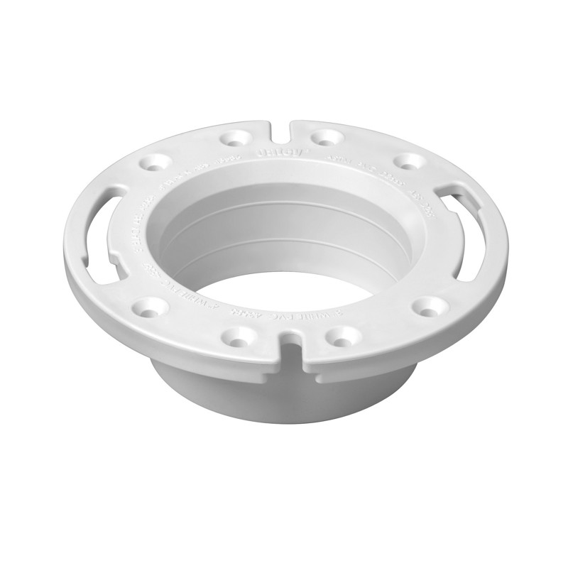 038753435879_H_001.jpg - Oatey® 4 in. PVC Spigot Fit Closet Flange with Plastic Ring