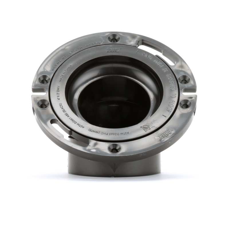038753438153-01-01.jpg - Oatey® 3 in. or 4 in. ABS 45° Closet Flange with Plastic Ring without Test Cap