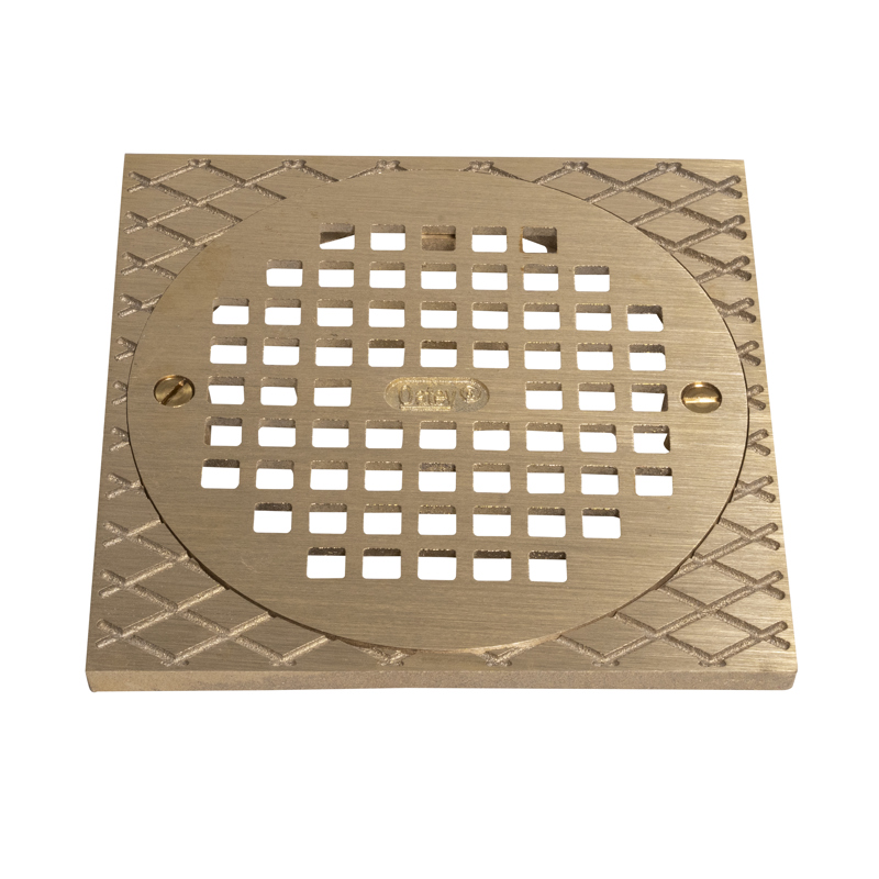 """Oatey® 6"""" Round BR Grate & Square Ring"""