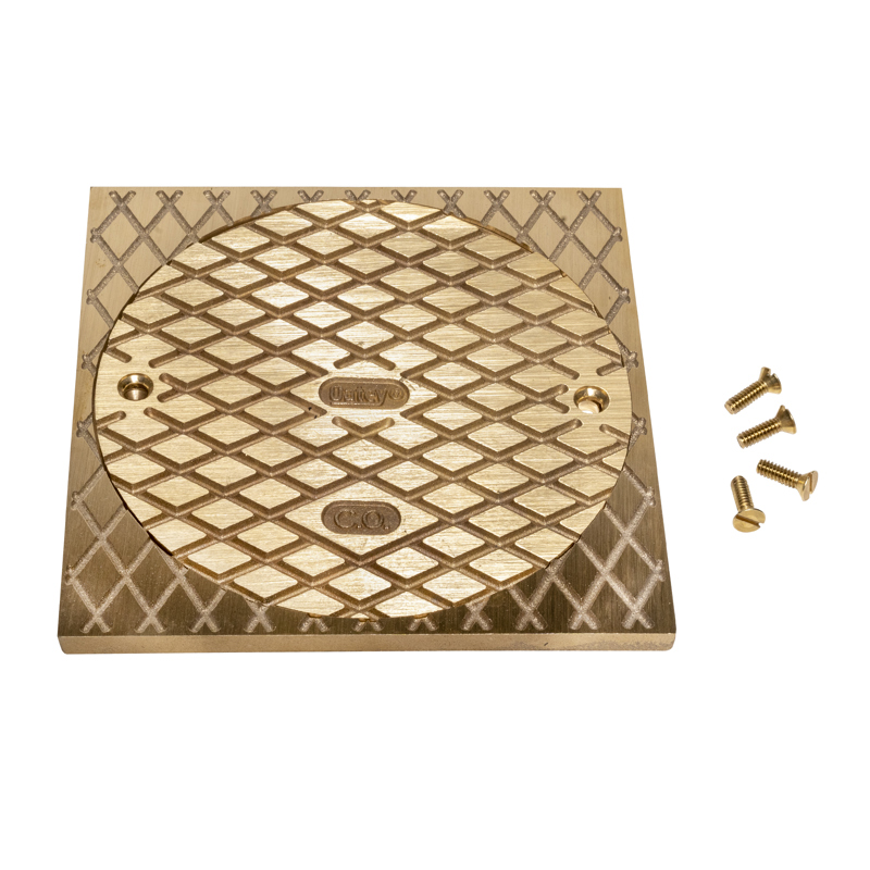 """Oatey® 6"""" Round BR Cover & Square Ring"""