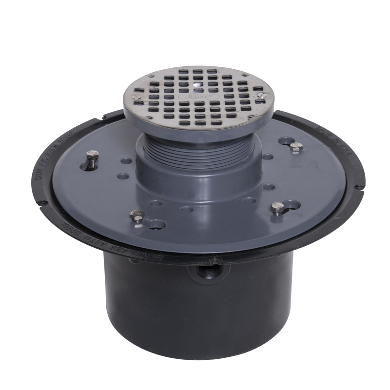 """Oatey® 5"""" Stainless Steel Strainer Round, ABS Flange Base, 6"""" Pipe"""