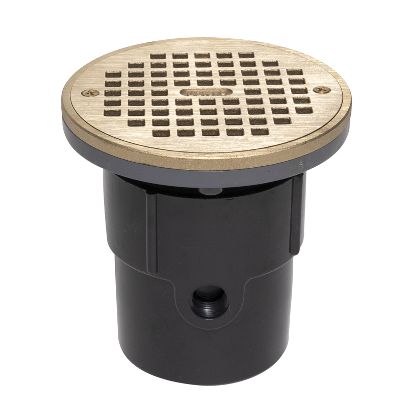 """038753821375_H_001.jpg - Oatey® 3"""" or 4"""" ABS General Purpose Drain w/ 6"""" BR Grate & Round Ring"""