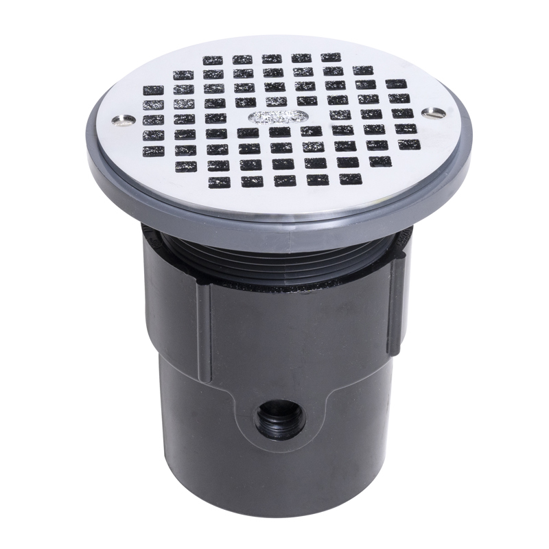 """Oatey® 3"""" or 4"""" ABS General Purpose Drain w/ 6"""" CHR Grate"""