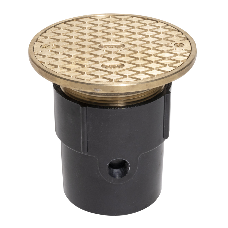 """038753842172_H_001.jpg - Oatey® 3"""" or 4"""" ABS General Purpose Cleanout w/ 6"""" Cast BR Cover & Round Top"""